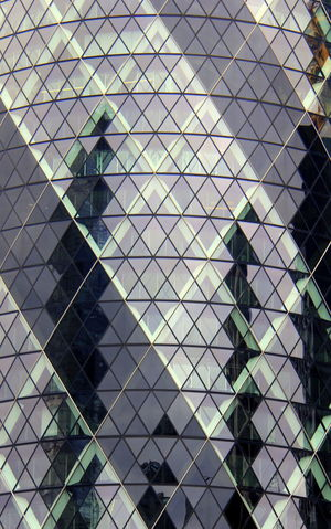 Architecture Backgrounds Building Exterior Built Structure Day Full Frame Gherkin Building Gherkin Tower Glass - Material Men One Person Outdoors Pattern Real People Reflections