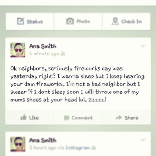 Annoyed Fbstatus Tired PMO