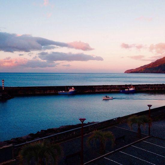 Azores Islands Sao Miguel- Azores Povoação Hotel Do Mar Another Day Of Work Fish Boat