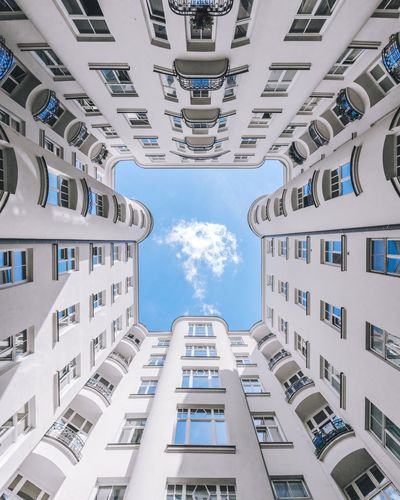 【☁】︱cloud up EyeEm Best Shots First Eyeem Photo EyeEmNewHere Architecture_collection Looking Up VSCO Windows Minimal Minimalist Architecture Clouds And Sky Lookingup Interior Design Warsaw Symmetry Cloud Blue Sky City Skyscraper Apartment Cityscape Modern Window Sky Architecture Building Exterior Built Structure Residential District Residential Building Building Tall - High