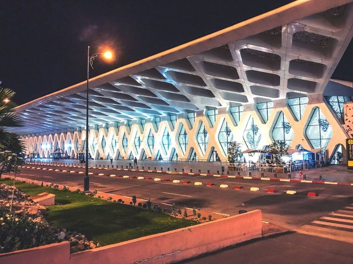 High Angle View Outdoors Night Bridge - Man Made Structure Connection Transportation Architecture Engineering Built Structure Road Illuminated No People Girder Sky aéroport Building Story Aeroport