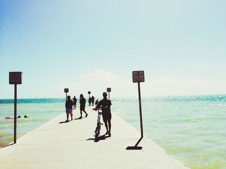 The southernmost point in the continental US on Key West, Florida. Around The World By Lufthansa The EyeEm Facebook Cover Challenge Impossible Moments Shootermag_usa Negative Space Ocean Key West Pastel Power