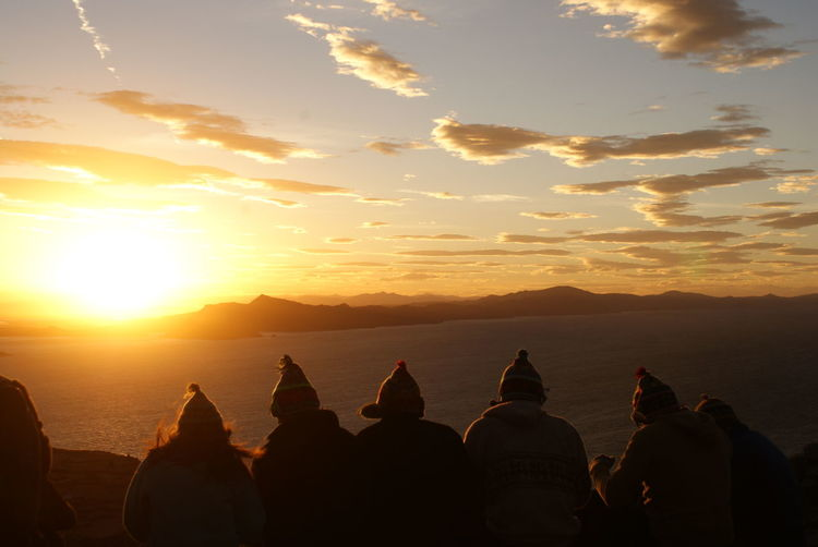 Sunset on Pachamama - Amantani Peru. Peruvian hat style. South America Travel Destinations Travel Sunset Peru Titicaca Amantani Island Puno, Perú Puno Hat Peruvian Culture Peruvian Hat Culture Clouds Sky Tranquility Exploring City Ancient Civilization Sunset Urban Skyline Place Of Worship Mountain Old Ruin Beauty Silhouette Religion