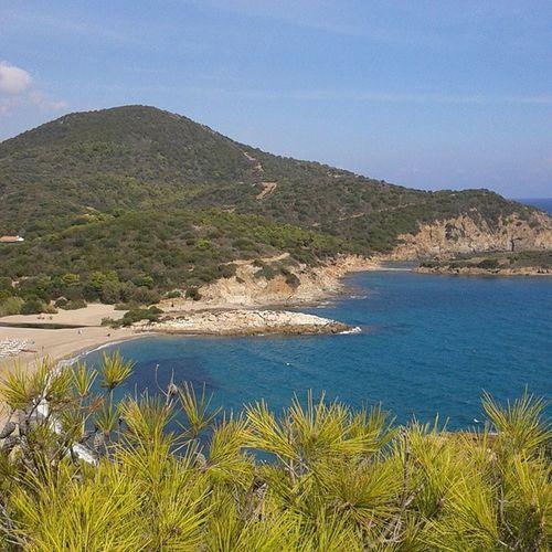 Sardegna Cartolina Chia Colori mare ottobre natura