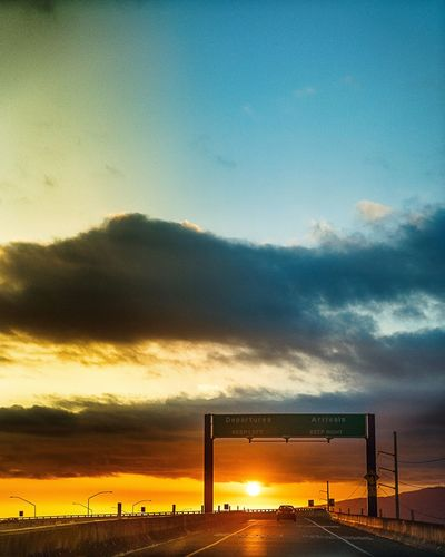Sky Cloud - Sky Sunset Nature No People Beauty In Nature Outdoors Scenics Tranquil Scene Tranquility Built Structure Architecture Day Long Goodbye