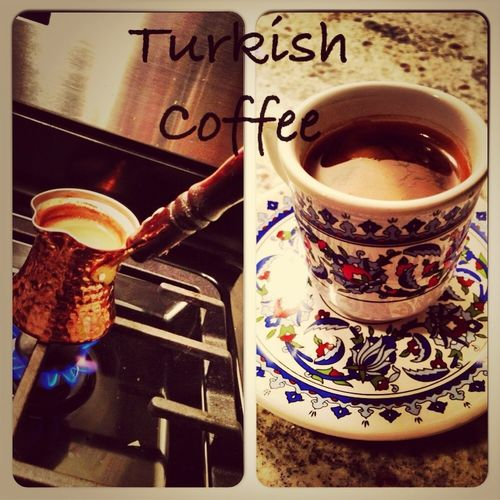 Enjoying a wonderful cup of #TurkishCoffee