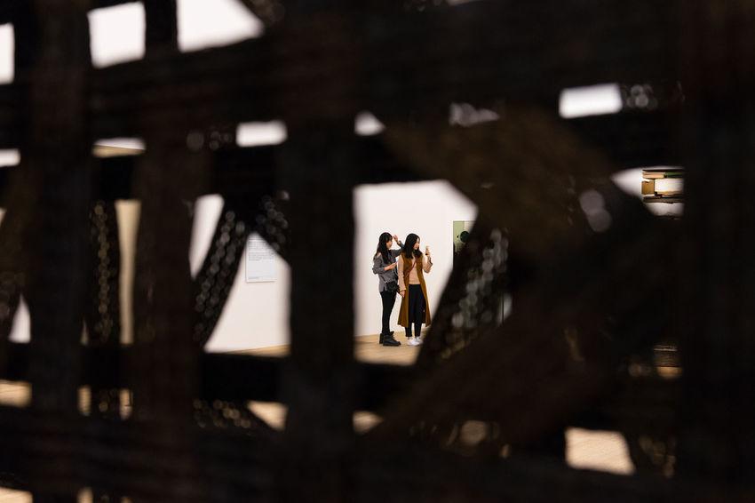 Peeking Abstract Photography EyeEm Gallery Indoors  Peeking People Perspectives Real People Togetherness Women