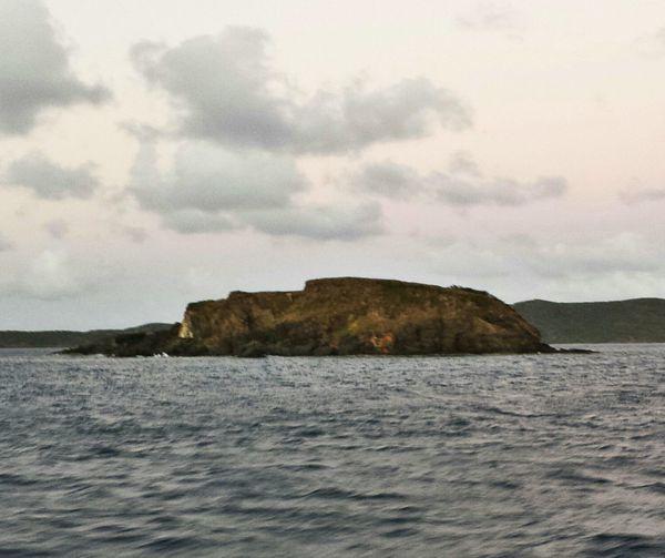 ....this marks the entrance to the island. Taking Photos Sea ....Isla Culebra Puerto Rico