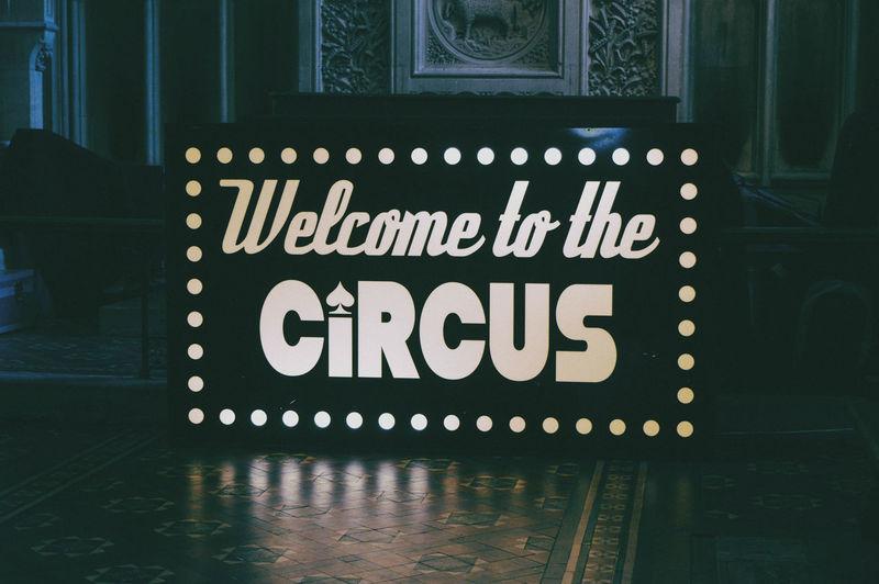 Circle Circus Sign Light Box