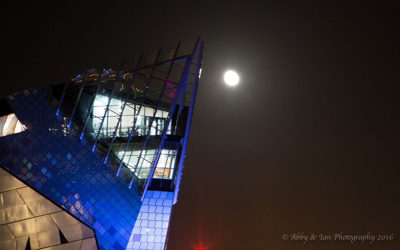The Deep in Hull East Yorkshire Night The Deep Hull Attraction Architecture_collection Colors