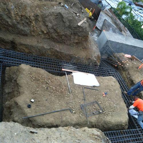 Gradebeam Steel Concrete Footings construction