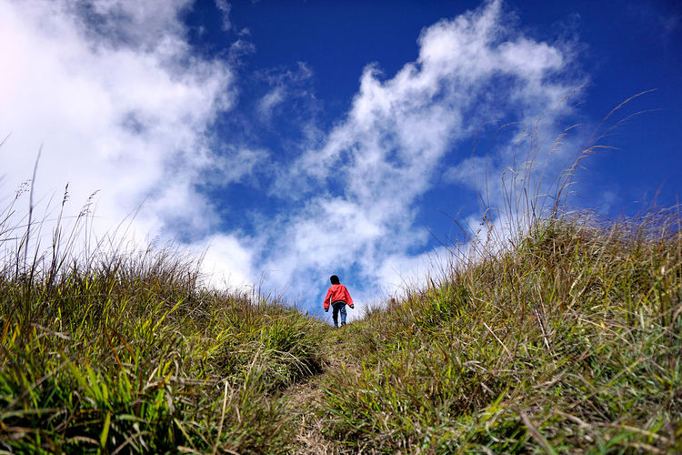 INDONESIA Nature Red Sky And Clouds Adventure Go Higher Go Up Hill Leisure Activity Montains    Outdoors Outdoors Photography Sky