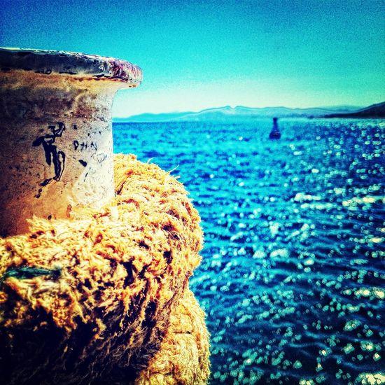 Ship Sea Blue Greece