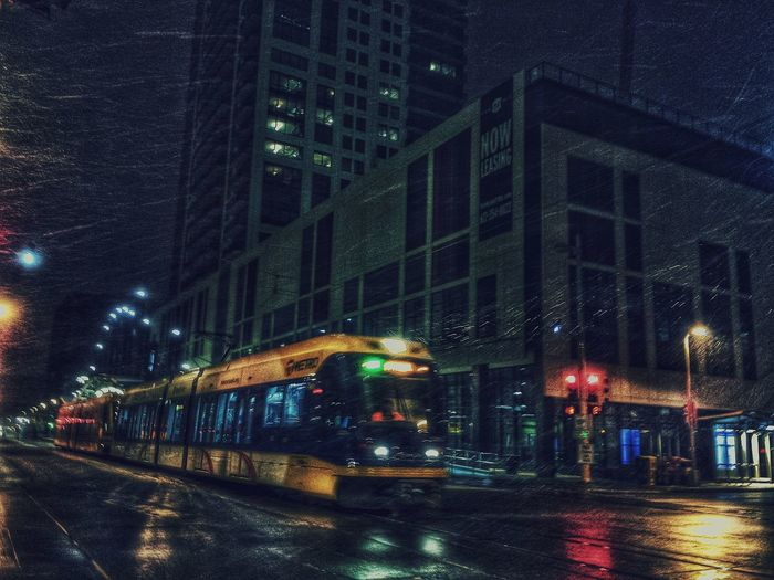 DowntownMPLS Minneapolis Metro Transit Lrt Night Photography Public Transportation Cityscapes Urban Photography Urban Landscape Late Night Blues Urbanscape