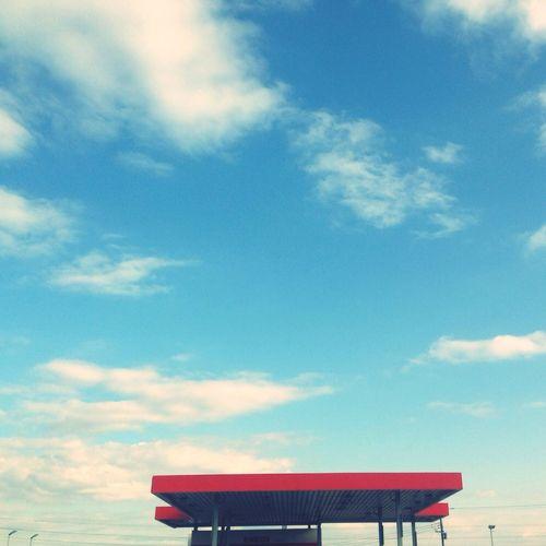 Sky Blue Gas Station