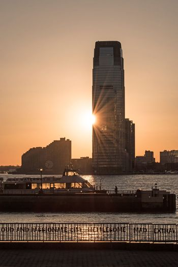 Battery Park NYC Photography NYC LIFE ♥ Sunset Silhouettes Sunset_collection Sunset Architecture Built Structure Building Exterior City Sunset Sky Skyscraper Modern Water Nature Cityscape Urban Skyline Tall - High Sunlight City Life Travel Destinations Outdoors No People