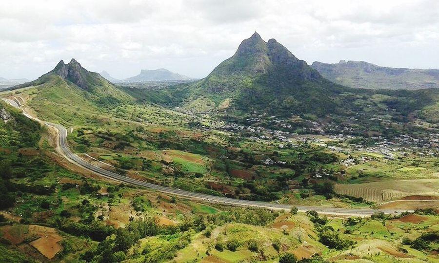 Verdin Mauritius Mountain Mountain Range Landscape Peiter Both Flying High