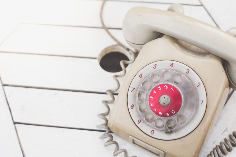 Old telephone, Retro, vintage telephone on Wooden Hello Home Office Old Fashioned Relationship Retro Analog Communication Greating Card Number Old Say Hello Speak Talk Telephone Vintage
