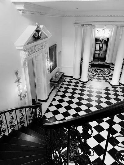 Interior of illuminated house