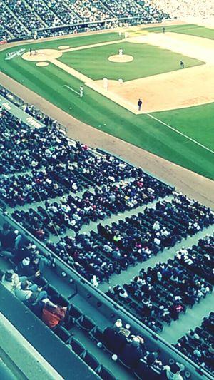 Walking around the stadium. Chicago White Sox