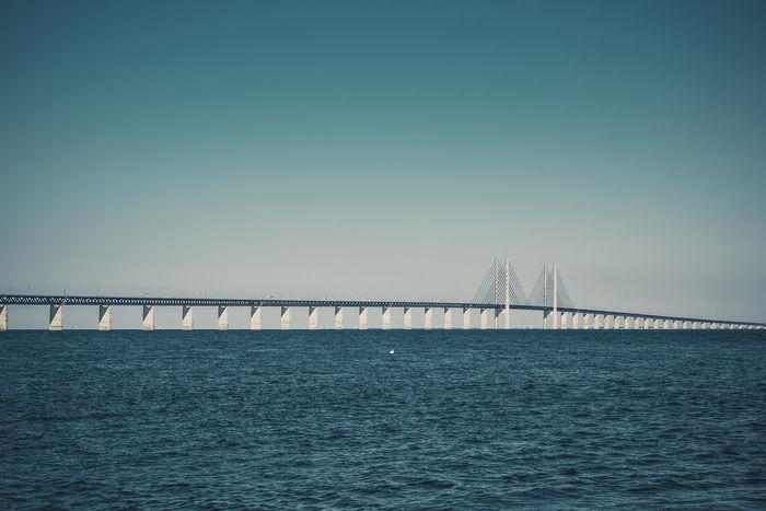 Oresund bridge Bridge Sea And Sky Seascape Showcase June Morning Cityscapes Sweden-landscape