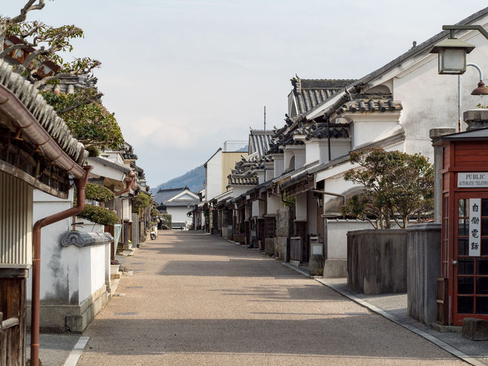 Old Town Architecture Building Building Exterior Built Structure City Day Diminishing Perspective Direction House Japanese Good Old Town Long Nature No People Outdoors Plant Residential District Road Sky Street Sunlight The Way Forward Tree Udatsu No Machinami