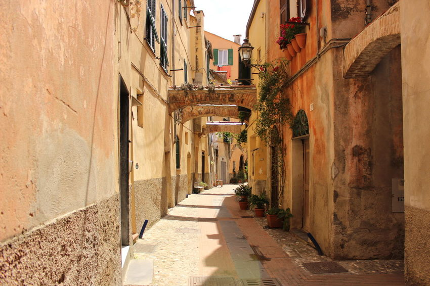 Albenga Alley Architecture Building Exterior Built Structure City Day Italy❤️ Medieval Architecture No People Old Cities Outdoors Residential Building Scriptina The Way Forward Time Machine Walkway