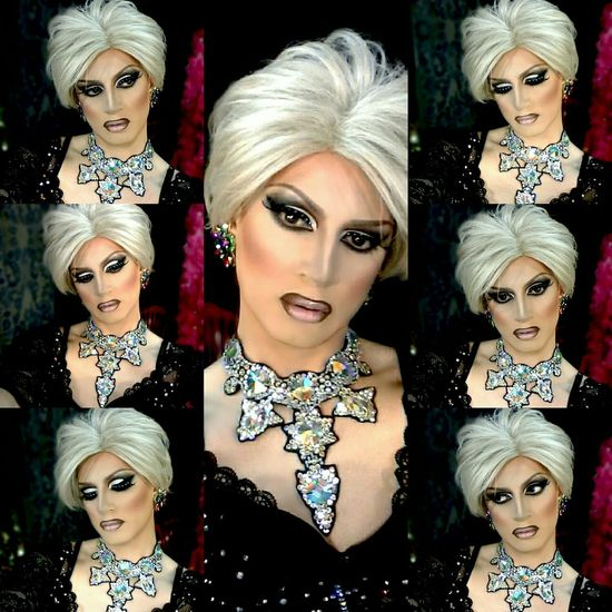 Dragqueen  Diva Rupaulsdragrace Hello World Selfie Blond Makeup Swarovski Divacrystal Popular Photo www.crystalshow.com.ua