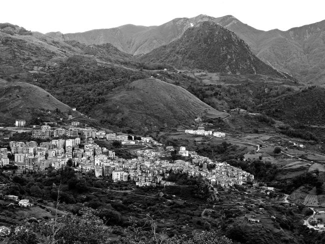View of the village of Verbicaro and the Pollino mountains Black & White Cityscape Italia South Italy Architecture Beauty In Nature Black And White Black And White Photography Building Exterior Calabria High Angle View Landscape Mountain Mountain Range Nature Outdoors Scenics Tranquil Scene Tranquility Travel Destination Tree Urban Landscape Urban Skyline Verbicaro