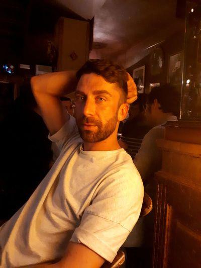 P Man Portrait Close-up Love Calm Illuminated Men Working Beard Portrait Sitting Mid Adult Waist Up The Portraitist - 2018 EyeEm Awards