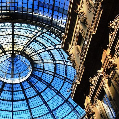 The world's oldest shopping mall. The Galleria Vittorio Emanuele II. Milano Italy Galleria