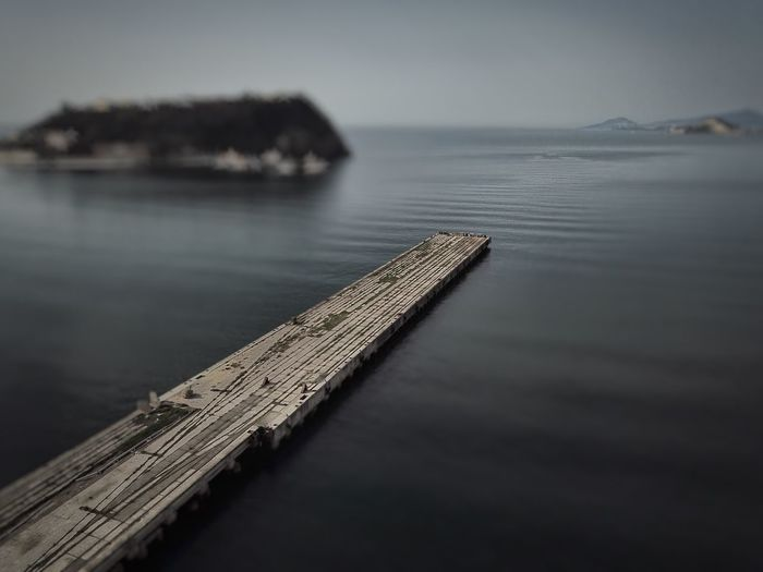 The Dock, Naples Bagnoli Tilt Shift Effect Water No People Nature Outdoors Tranquility Beauty In Nature Tranquil Scene