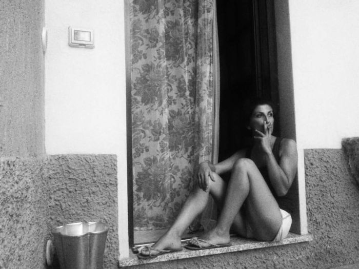 Adults Only Door Sitting Adult One Woman Only Only Women Depression - Sadness One Person People Young Adult Indoors  Day One Young Woman Only Full Length Young Women Italy🇮🇹 Milano Itsme Black And White Portrait Its Me! Tranquility Tranquil Scene