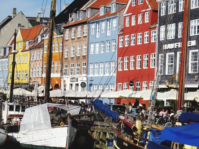 Nyhavn Denmark Architecture City Capital Of Denmark Travel Photography Home Town Myhome Travel Destinations Sunday EyeEm Gallery Traveling Nice Weather Sunny Day Copenhagen, Denmark Nyhavn Lines And Shapes Neighborhood Waterfront Old Houses