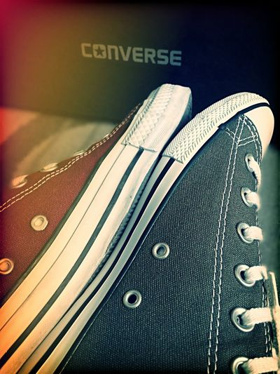 Close-up No People AllStarshoes Converse⭐ I Love Converse Chucktaylor ChuckTaylors All Star Lean Red And Grey Filter Mobile_photographer Mobile Photography