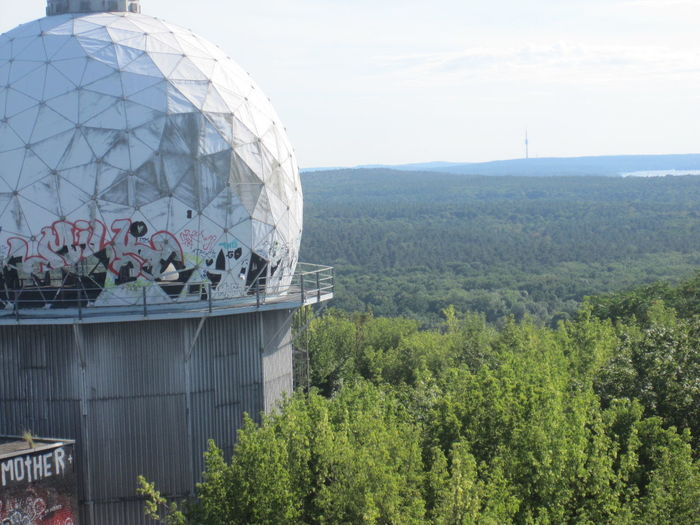 Architecture Beauty In Nature Berlin Built Structure Capital Cities  Cloud - Sky Day Dome Green Color Growth Landscape Lost Places Modern Mountain Nature No People Outdoors Plant Sky Teufelsberg Tourism Tranquil Scene Travel Destinations Tree Viewpoint