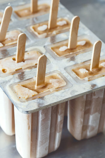 Close-Up Of Popsicle On Table