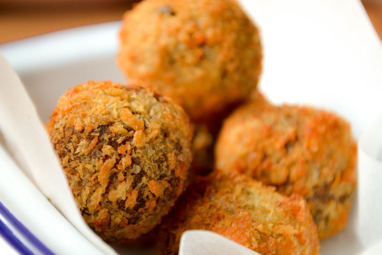 Close-Up Of Meat Balls