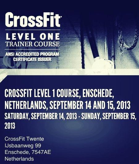 Um der verweichlichten und trägen Gesellschaft was entgegen zu setzen, mach ich mal den Crossfit Level 1 Trainerschein :-).