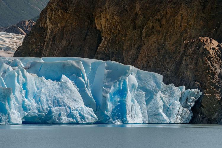 Grey Glacier At Torres Del Paine National Park