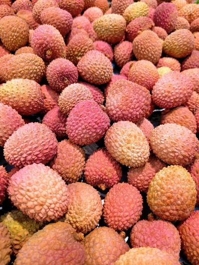 Freshness Food Healthy Eating Fruit Full Frame Food And Drink Lychee No People Backgrounds Market Close-up Outdoors Day