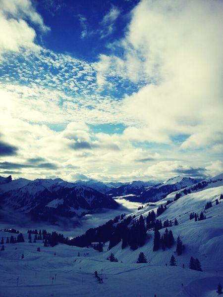 Beautiful day at Diedamskopf :) Skylining Snowboarding