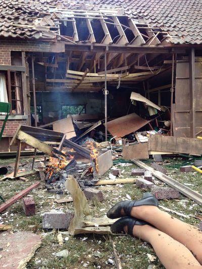 Hello World house broken garden explosion