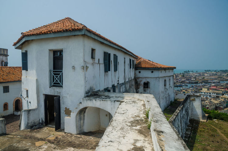 Wall Elmina Ghana African Africa Colonial Castle Fort Architecture Historic Historical Building