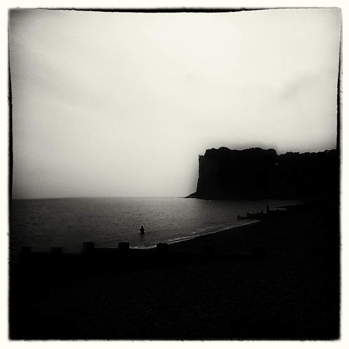 Heading Out Sea Kent CliffEdge St Margarets Taking Photos Hello World Bnw Melancholic Landscapes
