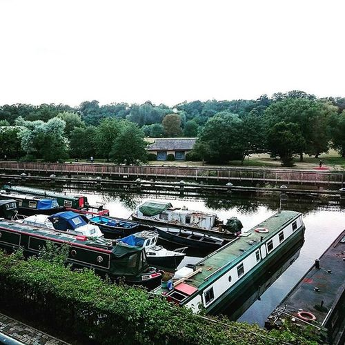 Great view of the canal in Hertford.. Hertford Hertfordshire Canal RiverLea Water Barges Boats Trees ican Xperia XperiaZ3