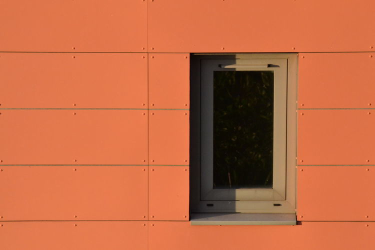 Architecture Backgrounds Building Exterior Built Structure Cladding Close-up Day Full Frame No People Orange Color Orange Colour Outdoors Window Window Frame