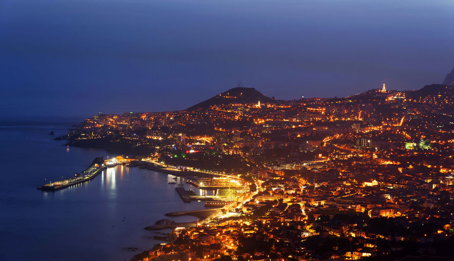 Capital City Destination Fireworks Funchal Holiday Madeira Night Portugal Tourism Travel