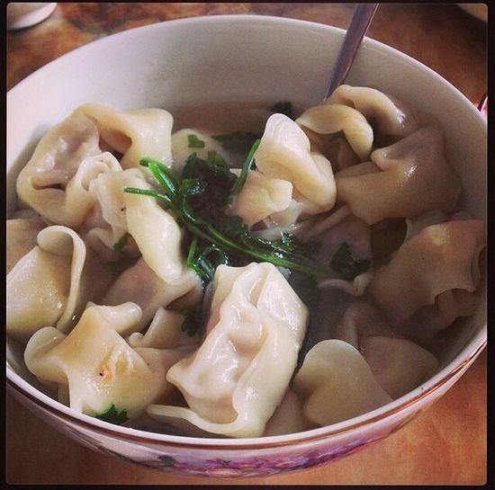 Eating Enjoying Life ワンタンスープ 这是妈咪做的一碗超级棒的馄饨!超 美味しい!