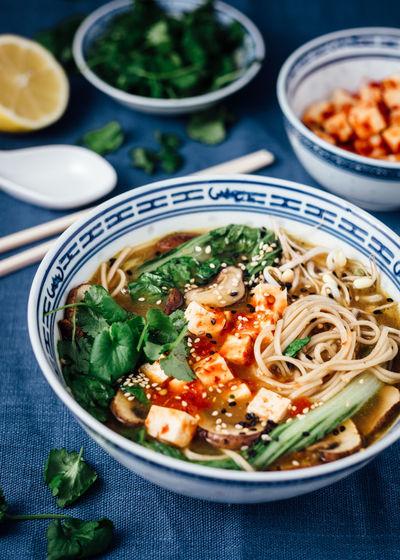 Noodles Soup Served In Bowl